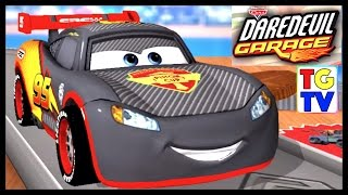 getlinkyoutube.com-Disney Pixar Cars Lightning McQueen (New Bowling Alley Track) | Cars Daredevil Garage