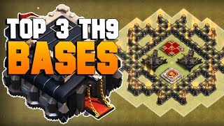 getlinkyoutube.com-Clash of Clans | TOP 3 TH9 War Base 2016 | CoC BEST Town Hall 9 Defense [TH9 2016]