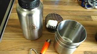 getlinkyoutube.com-Pathfinder cup & Bottle Vs. 58 Pattern crusader canteen