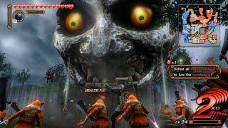 getlinkyoutube.com-Hyrule Warriors (Wii U) - Majora's Mask DLC - Young Link Gameplay