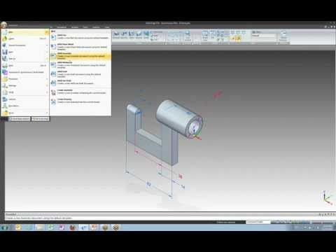 Intro to Solid Edge ST4 Lesson 2 - Part Modeling Workflow