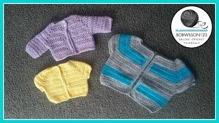 getlinkyoutube.com-Cardigan Crochet Tutorial - Various Child Sizes