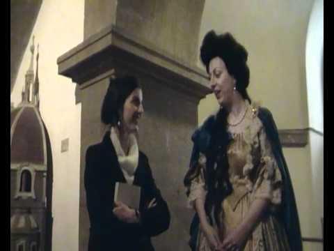 Anna Maria Luisa de' Medici dialoga coi visitatori