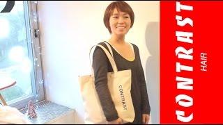 getlinkyoutube.com-ばっさり ヘアーカット ドライカットで可愛いショートヘアに jikko yamada 渋谷 美容室 美容院 コントラストヘアー 青山通り