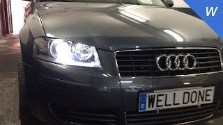 getlinkyoutube.com-Audi A3 Xenon headlights installation