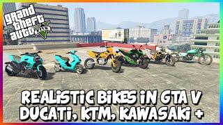getlinkyoutube.com-GTA 5 PC MODS - REALISTIC MOTORBIKES IN GTA V - DUCATI, KTM450, KAWASAKI, AEROX (GTA V MODS)