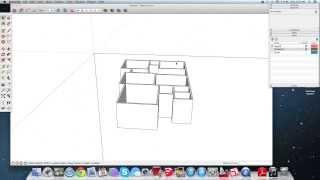 getlinkyoutube.com-٣- SketchUp سكتش اب : رسم جدران الدور الأرضي