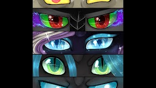 getlinkyoutube.com-P:Speedpaint:MLP Eyes of Villans :Discord,  Sombra, Nightmare Rarity, Chrysalis, & Changeling