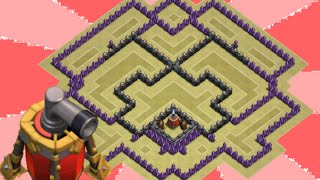 getlinkyoutube.com-Clash of Clans - TH9 War Base | WITH AIR SWEEPER | speed build
