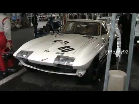 Chevrolet Corvette C2 Sting Ray with Side pipes - VERY LOUD revs and start up sound!!