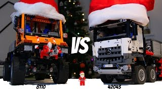getlinkyoutube.com-Christmas special: Lego 8110 Unimog VS 42043 Arocs