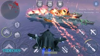 getlinkyoutube.com-GUNSHIP BATTLE : Fleet Attack -SU-47 BERKUT