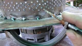 getlinkyoutube.com-Дробилка зерна из двигателя центрифуги стиральной машины