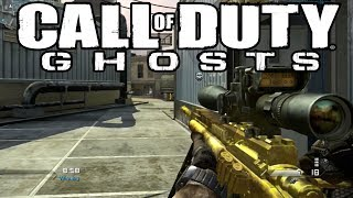 "getlinkyoutube.com-Cod GHOSTS Multiplayer Live - ""Golden USR Sniper Gameplay"" - (Ghosts Gold Sniper)"