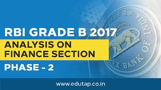Analysis on Finance Section RBI Phase 2 - 2017