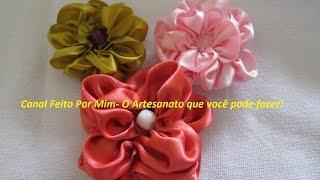 getlinkyoutube.com-Aprenda Fazer uma Flor Mimosa de Fita de Cetim