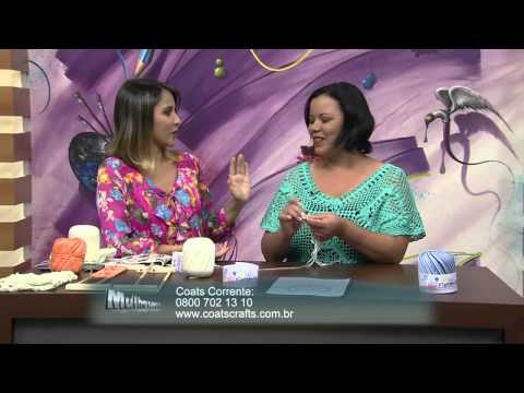 Mulher.com 16/12/2013 Eliete Massi - Blusa crochê de grampo Parte 1/2