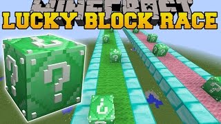 getlinkyoutube.com-Minecraft: INSANE EMERALD LUCKY BLOCK RACE - Lucky Block Mod - Modded Mini-Game