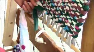 getlinkyoutube.com-Rag Rug Weaving - Part 6 - Finishing Off