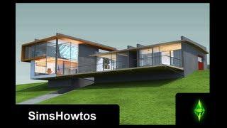 getlinkyoutube.com-The Sims 3 - Building a Modern House - High-Hill-House -