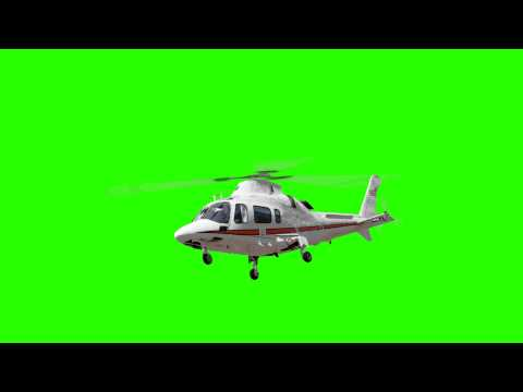 Chopper Helicopter Animated Green Screen