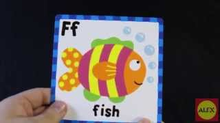 getlinkyoutube.com-ALEX Toys Ready, Set Touch and Feel ABC Flash Cards Alex 1431