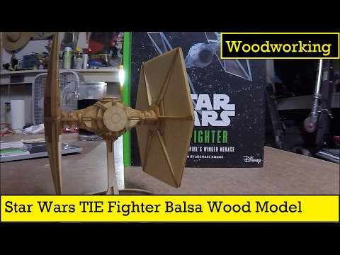 Star Wars TIE Fighter Wood Model Assembly