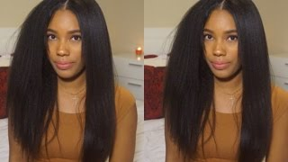 getlinkyoutube.com-WOWAFRICAN: Styling Most Natural Lace Wig Ever! (Italian Yaki)