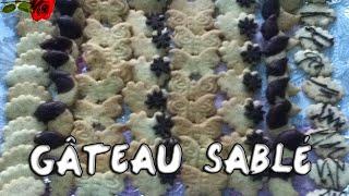 getlinkyoutube.com-شهيوات خديجة : صابلي بالشكلاط - gâteau sablé