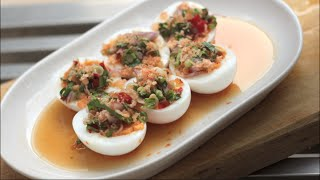 getlinkyoutube.com-Spicy Thai Egg Salad Recipe ยำไข่ต้ม - Hot Thai Kitchen!