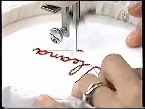 Puntos y Puntadas 77. Bordado de letras a máquina. Graciela Costanza.