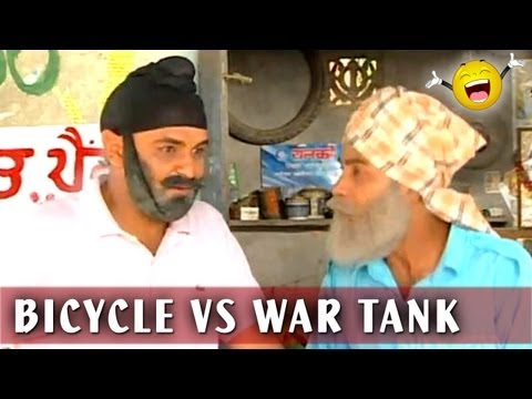 Punjabi Comedy Videos - Sell Bicycle To Buy War Tank - Family Khusreyan Di