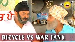 Punjabi Comedy Videos - Sell Bicycle To Buy War Tank - Family Khusreyan Di