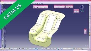 getlinkyoutube.com-Trennwand - Catia v5 GSD Training - Extrude - Trim - Join - Geometrical sets