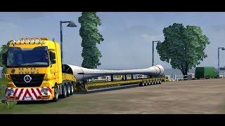 getlinkyoutube.com-OVERSIZE LOAD I Convoie Exceptionnel sur la Promods Map 2.0 I Euro Truck Simulator 2 !