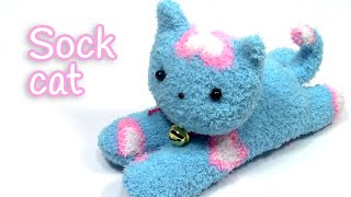getlinkyoutube.com-DIY crafts: SOCK CAT - Innova Crafts