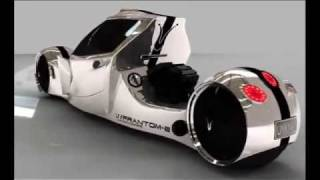 getlinkyoutube.com-Unknown Choppers- Frantom-E and Frantom-R enclosed motorcycle concepts.