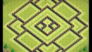 getlinkyoutube.com-Clash Of Clans - TH 10 Farming Base - 275 Walls