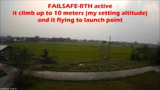 getlinkyoutube.com-CleanFlight INAV 1.0.1 Failsafe RTH Landing SUCCEED