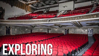 Trapped Inside ABANDONED HIGH SCHOOL! (Found Untouched Auditorium!)