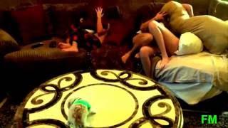 Dog fuking the girl.