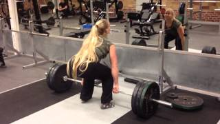 getlinkyoutube.com-Sarah Bäckman and her brother working out, deadlift