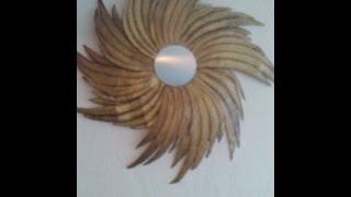 getlinkyoutube.com-DIY Espejo reciclado  en cartón / How to make a wall mirror out of cardboard