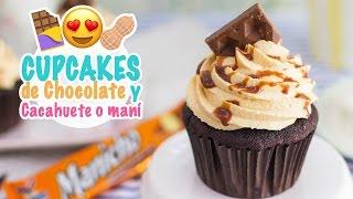 getlinkyoutube.com-Cupcakes de chocolate y cacahuete o maní   Manicho   Quiero Cupcakes!