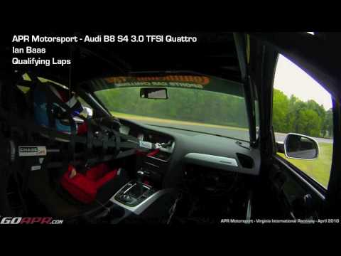 Ian Baas qualifying at VIR in the APR Motorsport Audi B8 S4