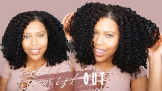 getlinkyoutube.com-Soft and Defined Twist Out Tutorial On Natural Hair // Samantha Pollack