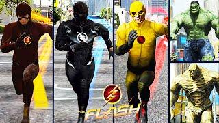 getlinkyoutube.com-Team Flash VS. Team Hulk (GTA 5 Ultimate Flash Mod)