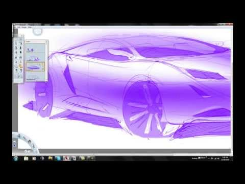 Autodesk Sketchbook Pro car sketching tutorial HD