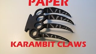 getlinkyoutube.com-How to Make Paper Karambit Claws| Paper Wolverine Claws