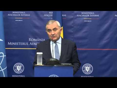 Declaraţii comune de presă ale ministrului Lazăr Comănescu cu directorul general al Agenţiei Internaţionale pentru Energie Atomică, Yukiya Amano